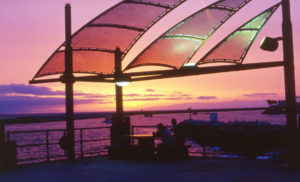 Sunset at Hermosa Beach, California