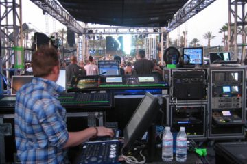 Coachella 2007 control booth, main stage
