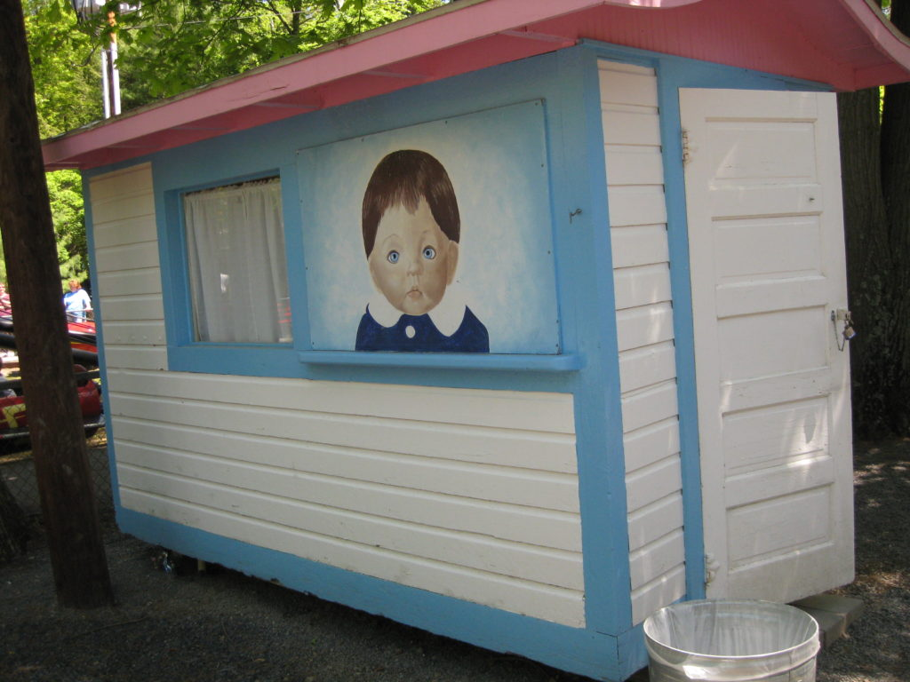 Creepy kid painting at Knoebels Amusement Park