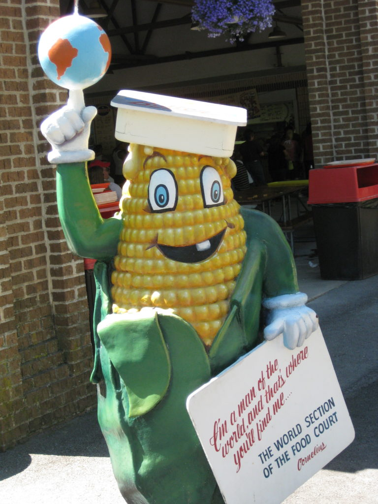 Corn cob statue at Knoebels Amusement Park