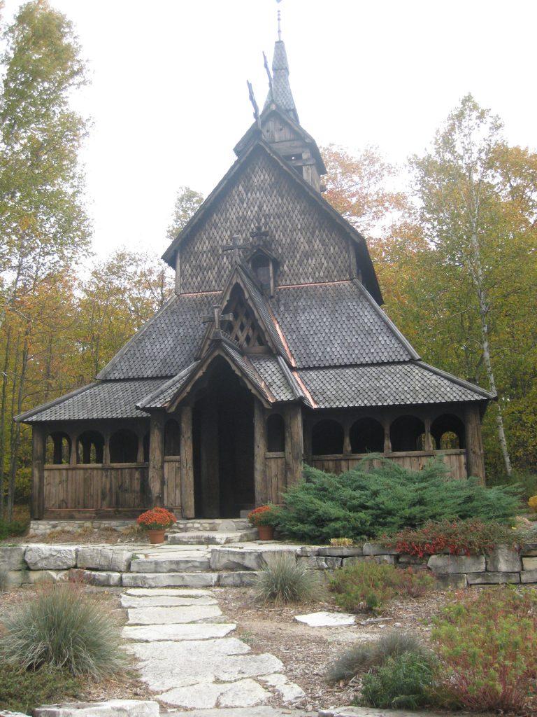The stave church (stavkirke) on Washington Island, Door County, Wisconsin.