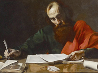 Paul the Apostle Writing Letters