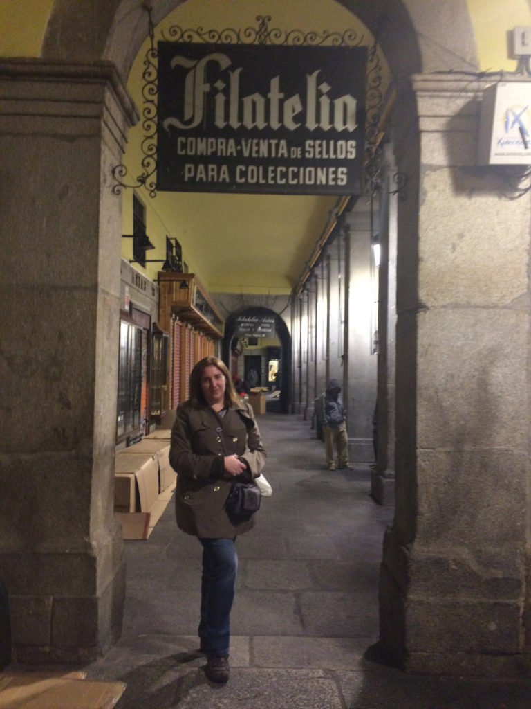 In the Plaza Mayor in Madrid