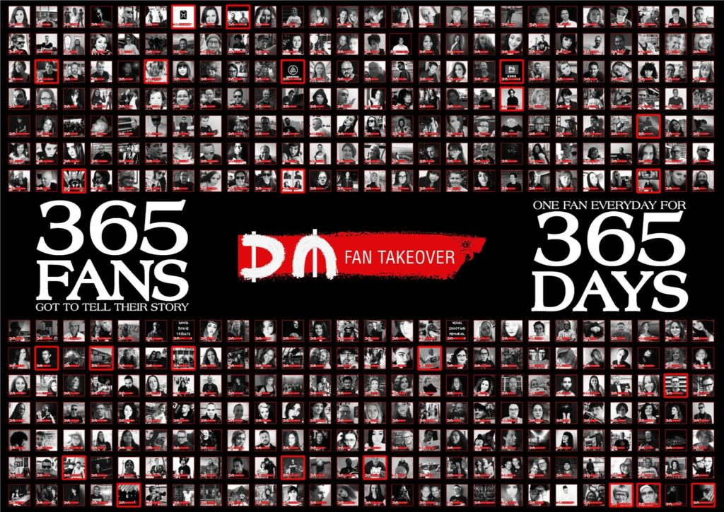 All 356 participants (Takeoverees) in the Depeche Mode Facebook Takeover