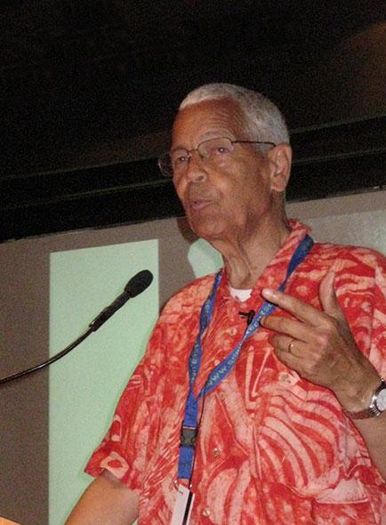 Julian Bond lecturing on SAS's Enrichment Voyage (December 2012)