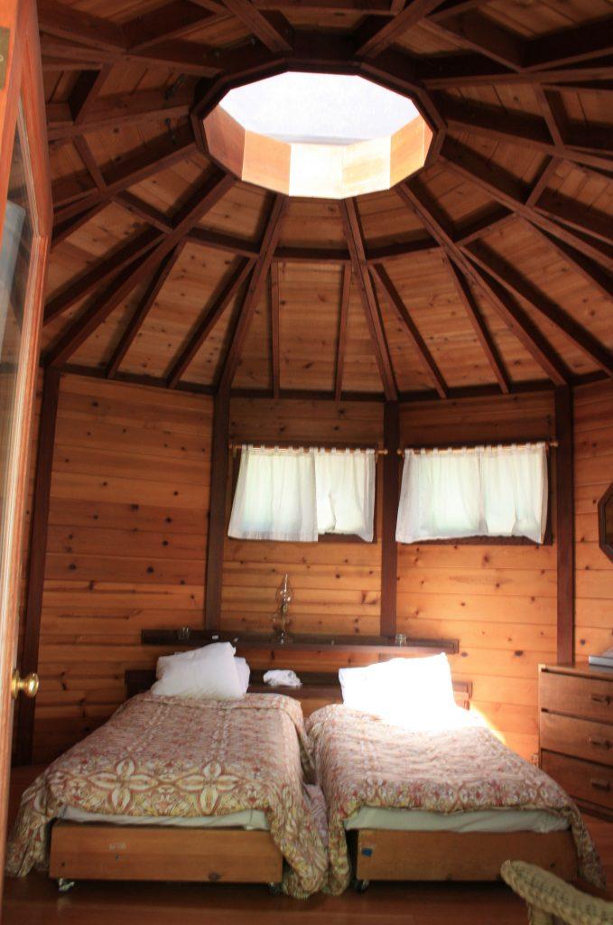 Yurt inside Tassajara