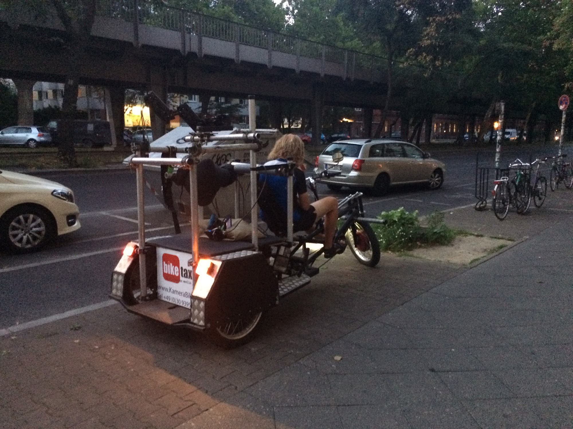 The infamous camera rickshaw near the Berlin U-Bahn.